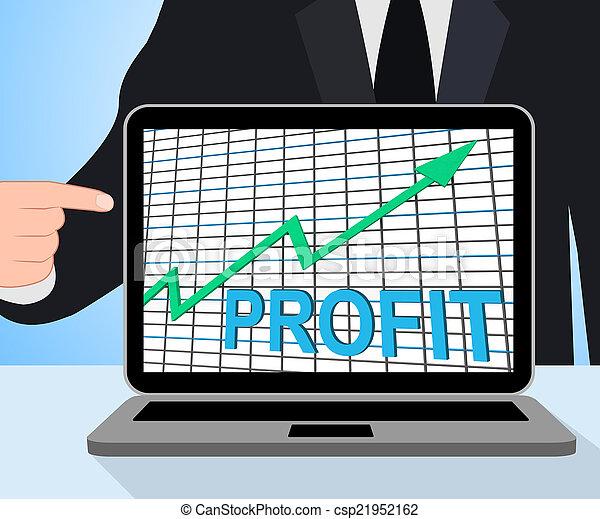 bogactwo, dochód, korzyść, wykres, wykres, gotówka, wzrastać, wystawy - csp21952162