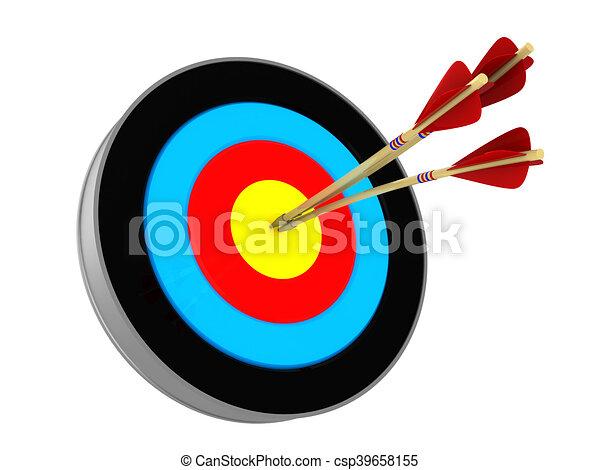 Bogenschießen Ziel Pfeile Drei Abbildung 3d