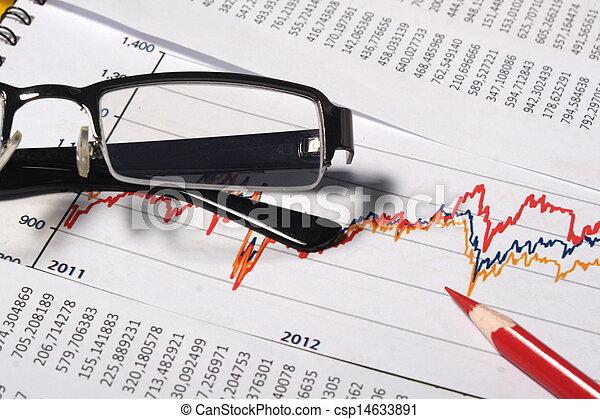 bogholderi, begreb, finansielle, eller - csp14633891