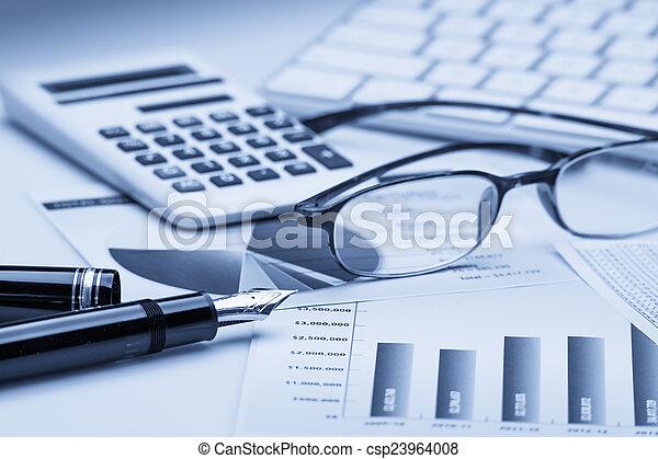 bogholderi, finansielle - csp23964008