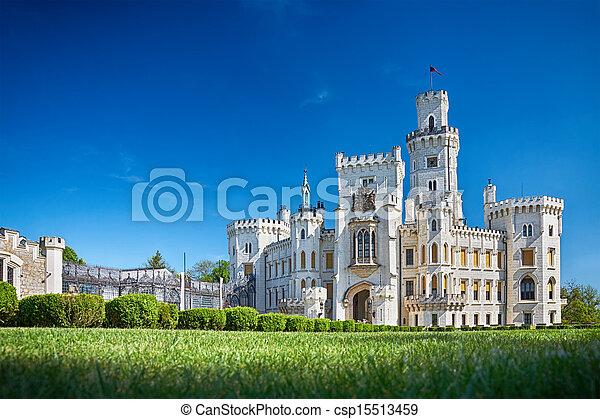 bohemian castle Hluboka nad Vltavou - csp15513459