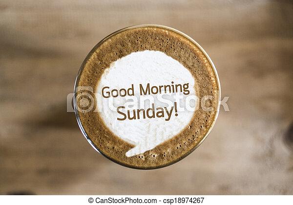 Guten morgen sonntag kaffee