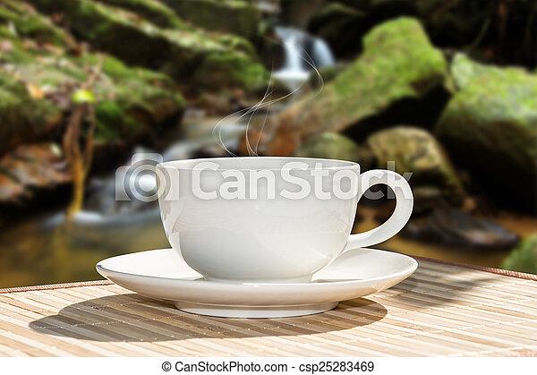 bohnenkaffee, morgen - csp25283469