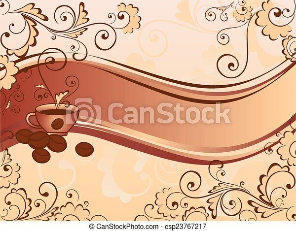 bohnenkaffee, stil - csp23767217