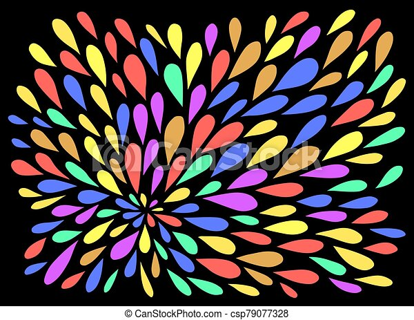 Boho Doodle Pattern Colorful Leafs Nature Motifs Raindrops Simple Zen Artwork Vector Illustration