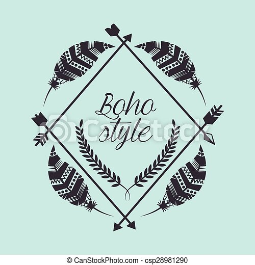 Boho Style Design Vector Illustration Eps10 Graphic Eps Vectors
