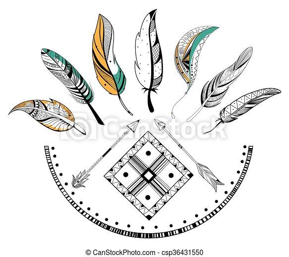 Boho Style Plume Tribal Flèche