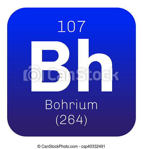 Bohrium chemical element radioactive synthetic element colored bohrium chemical element radioactive synthetic element colored icon with atomic number and atomic weight chemical element of periodic table urtaz Image collections