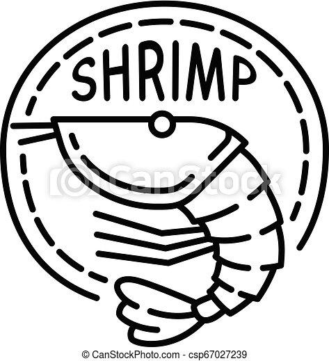 Boil shrimp icon, outline style - csp67027239
