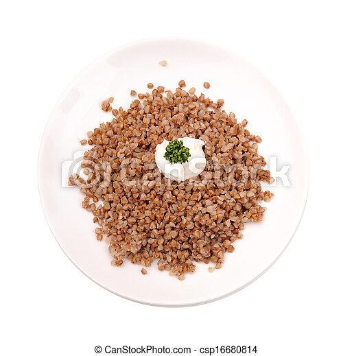 Boiled buckwheat kasha - csp16680814