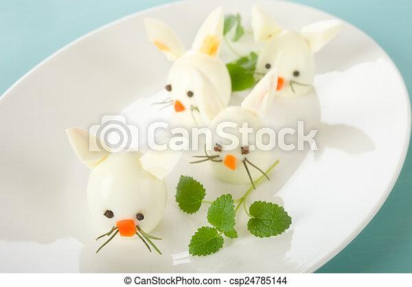 Boiled Egg Bunny Rabbit - csp24785144