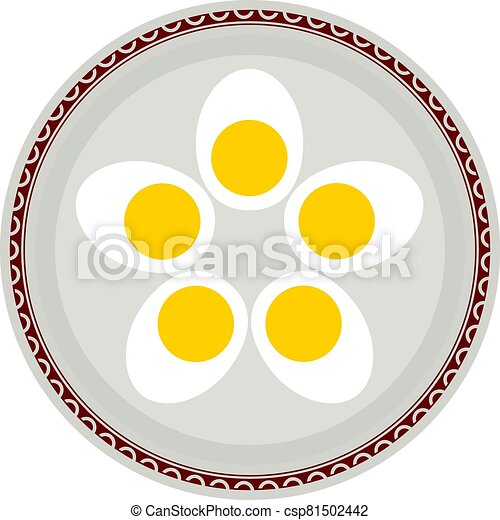 Boiled Eggs In Plate - csp81502442