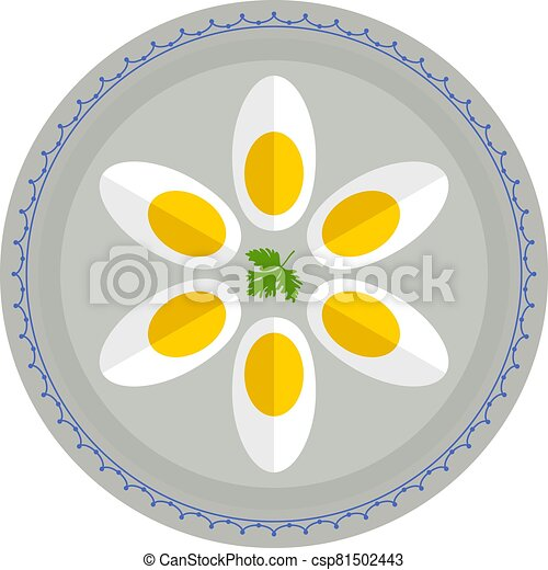 Boiled Eggs In Plate - csp81502443