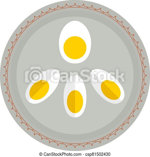 Boiled Eggs In Plate - csp81502430