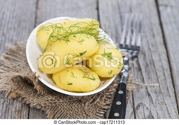 Boiled Potatoes - csp17211313