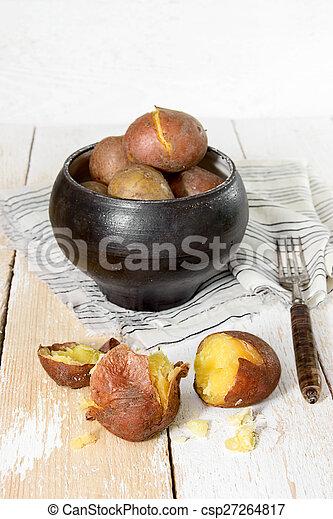 boiled potatoes - csp27264817