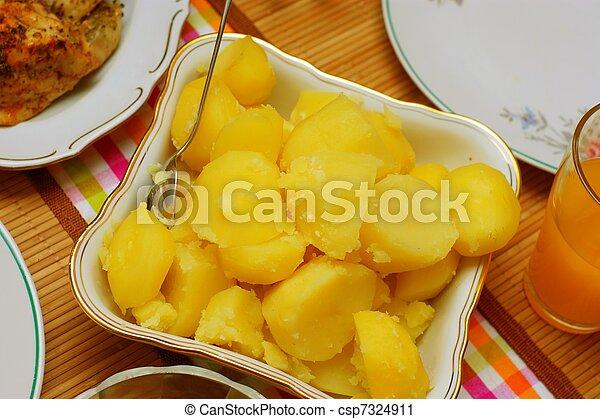 boiled potatoes - csp7324911
