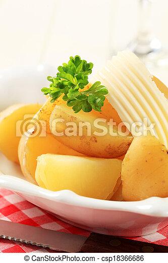 Boiled potatoes - csp18366686
