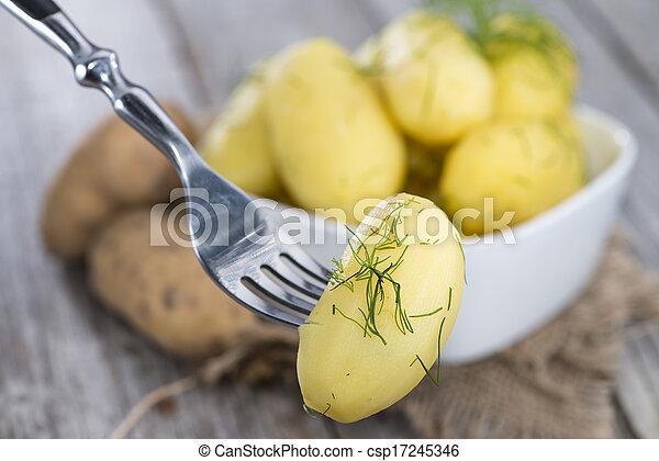 Boiled Potatoes - csp17245346