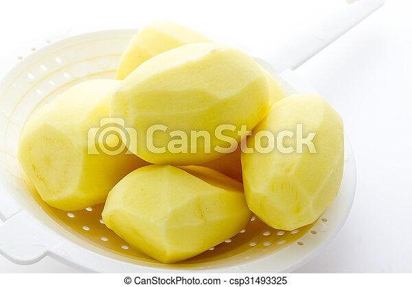 Boiled potatoes - csp31493325