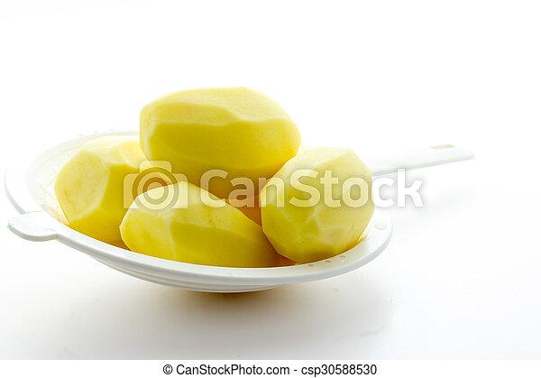 Boiled potatoes - csp30588530
