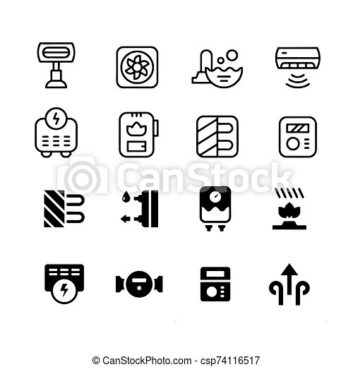 boiler icon water heater vector isolated - csp74116517