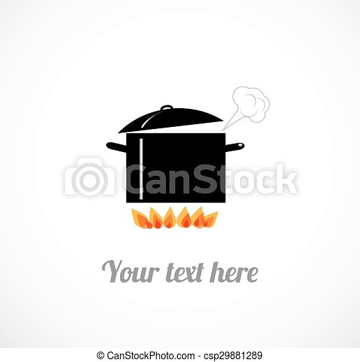 Boiling pot on fire - csp29881289
