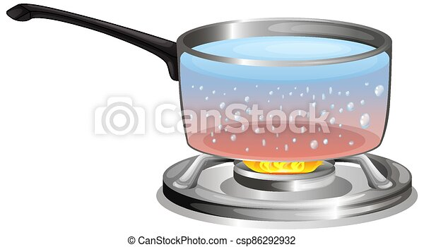 Boiling water in the pot - csp86292932