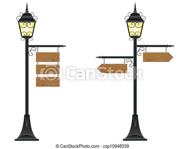 bois, éclairage public, conseils - csp10948339
