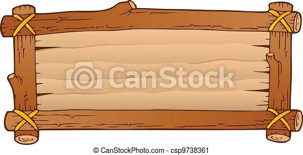 bois, 1, thème, planche, image - csp9738361