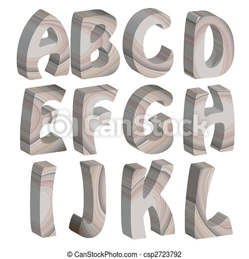 Célèbre Clipart de bois, alphabet, lettres, 3d - lettres, alphabet, bois  NW85