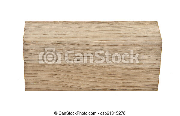 bois, blanc, barre, isolé, fond - csp61315278