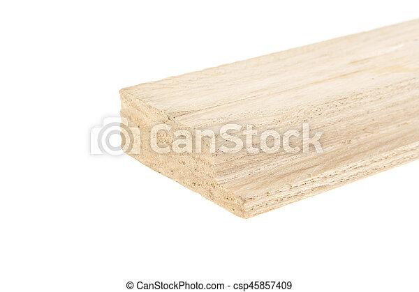 bois, blanc, isolé, fond, planche - csp45857409