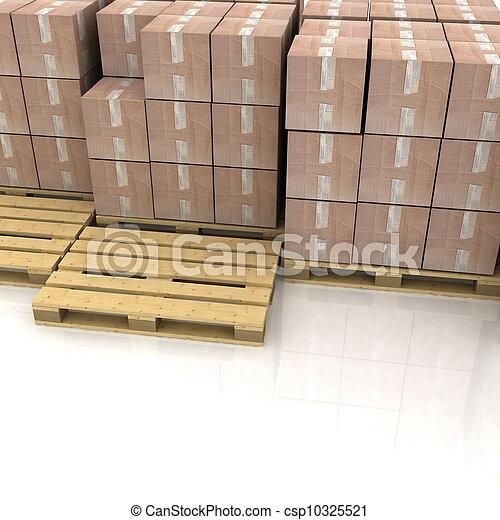 bois, boîtes, carton, palettes - csp10325521
