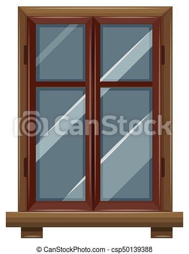 Bois Cadre Fenêtre Illustration