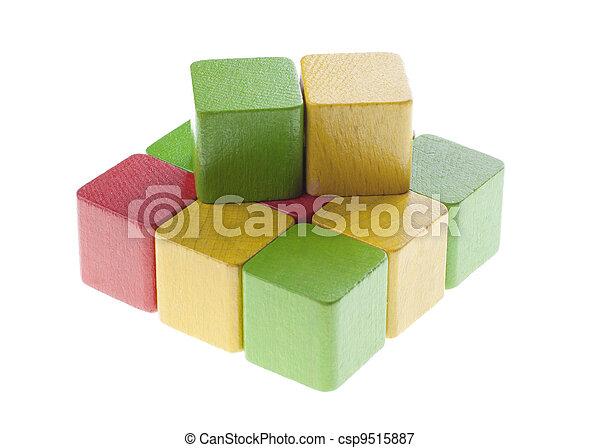 bois, carrée, cubes - csp9515887