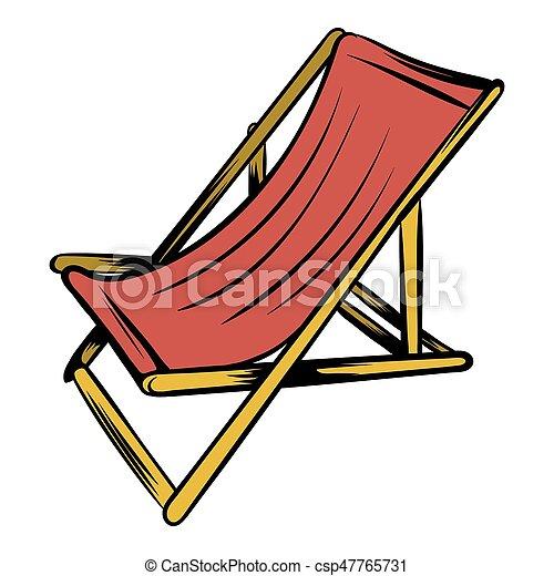 bois chaise plage dessin anim ic ne style bois isol illustration chaise plage. Black Bedroom Furniture Sets. Home Design Ideas