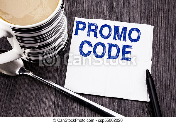 bois, concept, bureau, mouchoir, promo, texte, sommet, tissu, business, arrière-plan., écrit, papier, promotion, ligne, marqueur, bois, vue., coffee., projection, code., manuscrit - csp55002020
