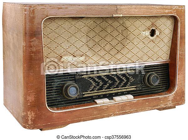 bois, coupure, radio - csp37556963