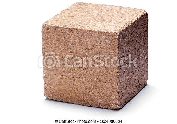bois, cube - csp4086684