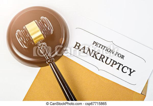 bois, document, faillite, gavel. - csp67715865