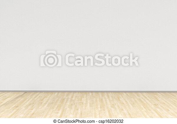bois dur, blanche salle, plancher - csp16202032