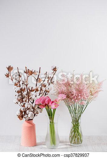 Bois Fleurs Coton Fond Vase