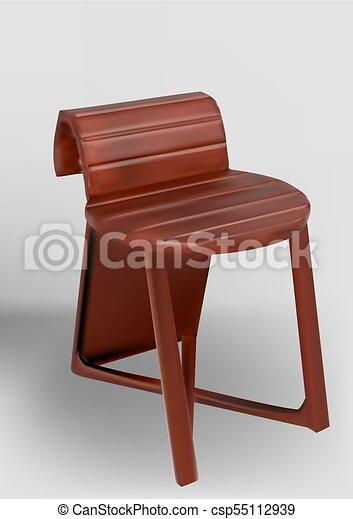 bois, inhabituel, dos chaise - csp55112939