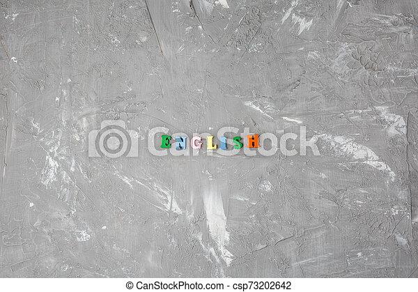bois, inscription, lettres, coloré, anglaise - csp73202642
