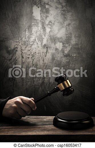bois, juge, marteau, tenue - csp16053417