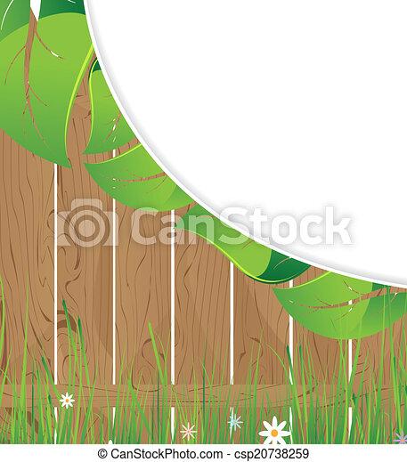 bois, luxuriant, barrière, feuillage - csp20738259