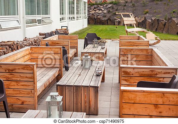 Bois Meubles Exterieur Terrasse Restaurant Restaurant Exterieur Bois Scandinave Eco Amical Meubles Design Canstock