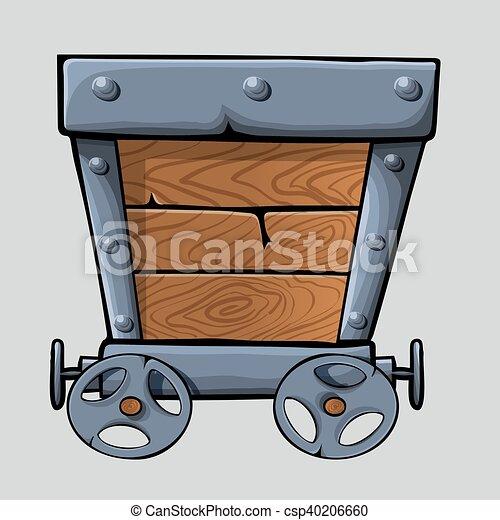 Bois mine charrette bois designs mine charrette - Charrette dessin ...