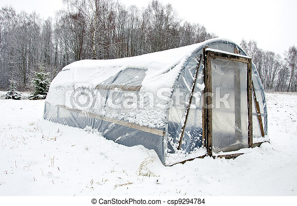 photo de bois neige serre fait maison poly thyl ne. Black Bedroom Furniture Sets. Home Design Ideas